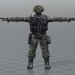 3d модель Солдат – превью
