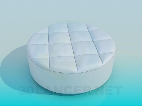 modelo 3D Otomano suave - escuchar