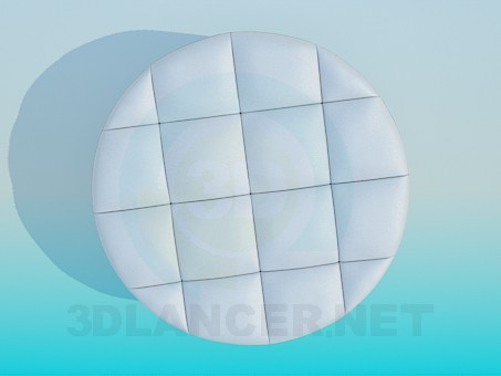 3d model Soft ottoman - preview