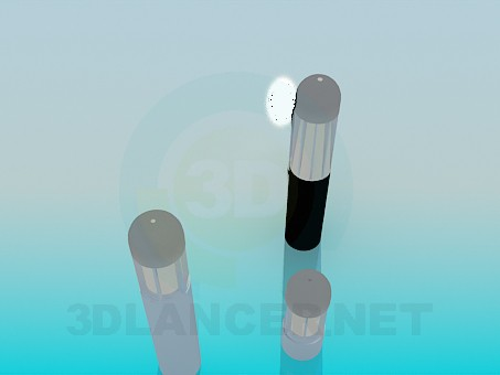 3d модель Низкие уличные фонари – превью
