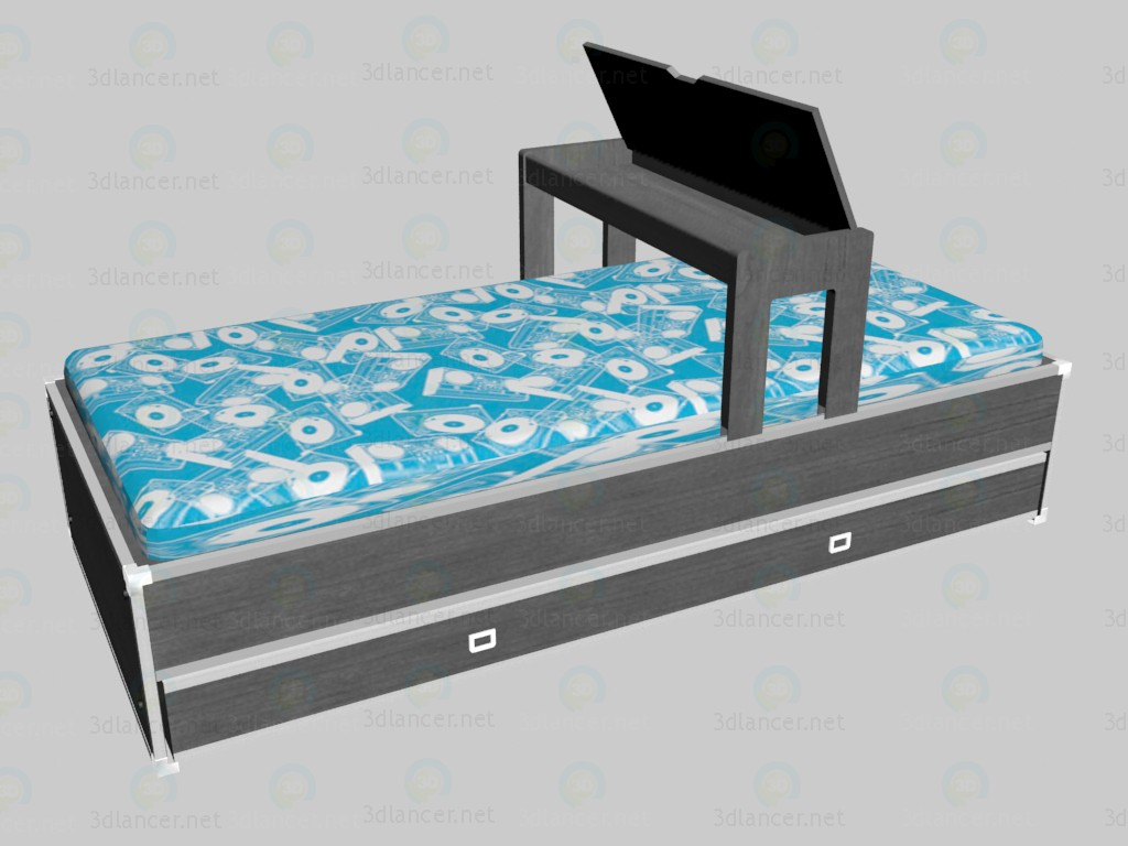 3d model Bed with an extension - preview