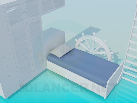 3d model The furniture in the nursery - preview