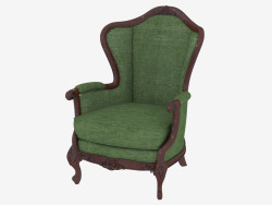 Classic style armchair with velor upholstery