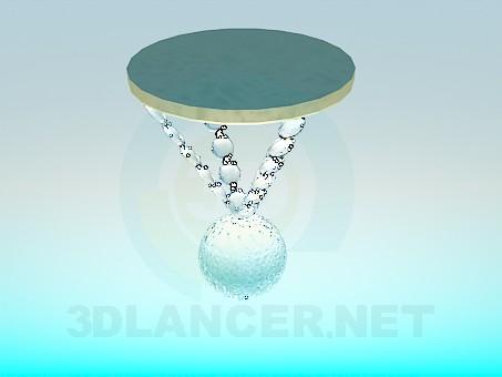 descarga gratuita de 3D modelado modelo Lámpara halógena con perlas de vidrio