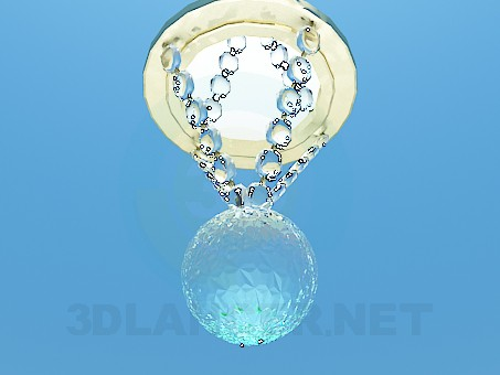 3d model Halogen lamp with glass beads - preview