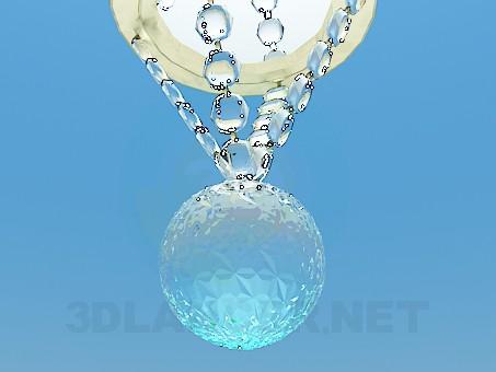 3d модель Галогеновый светильник с бусинами – превью