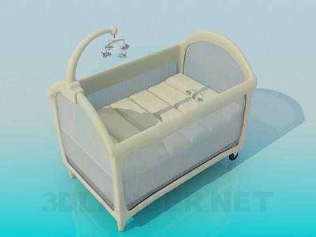 3d модель Детская кроватка – превью