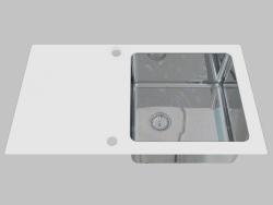 Lavado de vidrio y acero, 1 cámara con un ala para secar - Edge Diamond Pallas (ZSP 0W2C)