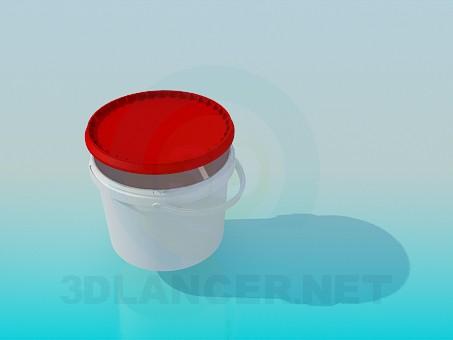 3d моделирование Пластиковое ведро модель скачать бесплатно