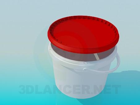 modelo 3D Cubo de plástico - escuchar