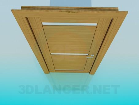 3d моделирование Дверь с матовыми вставками из стекла модель скачать бесплатно