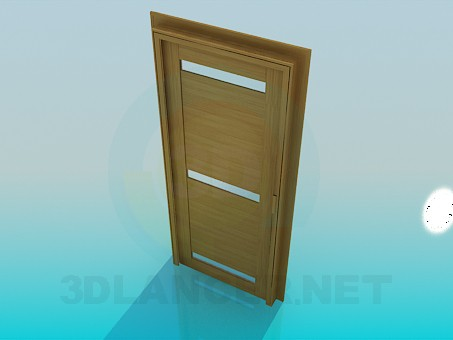 3d model Door with frosted glass inserts - preview