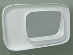 Espelho com prateleira (dx, L 80, H 48 cm)