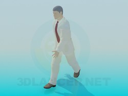 Der Mann zu Fuß