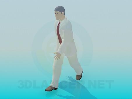 3d моделирование Идущий человек модель скачать бесплатно