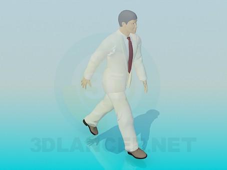 3d модель Йде людина – превью