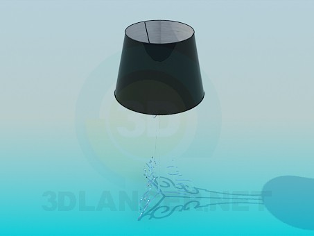 3d model Table lamp on soft stem - preview