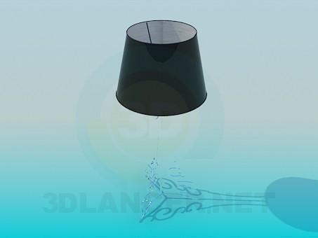 modelo 3D Lámpara de mesa en el tallo blando - escuchar