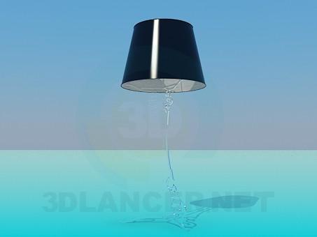 3d модель Настільна лампа на ніжній ніжці – превью