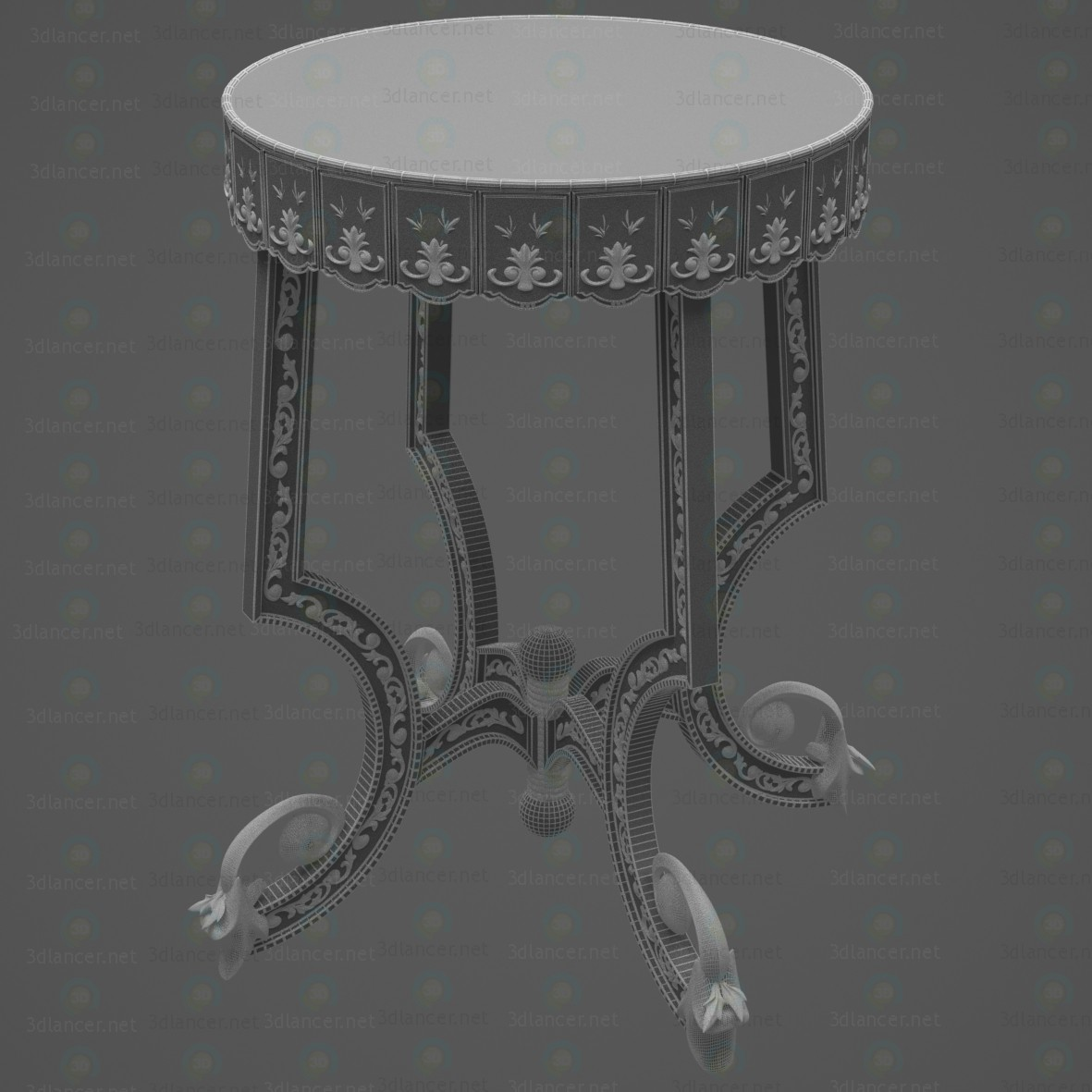 """3d model coffee table """"Alexander"""" - preview"""