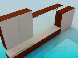 Mueble con pedestal