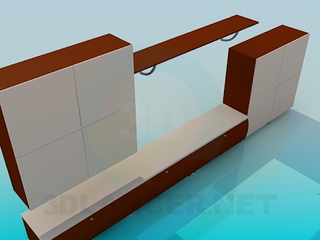 3d modeling Cabinet with pedestal model free download