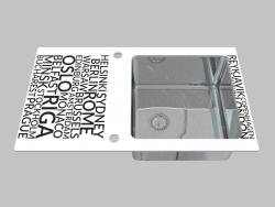 Lavado de vidrio y acero, 1 cámara con un ala para el secado - el borde de una ronda Pallas (ZSP 0A1