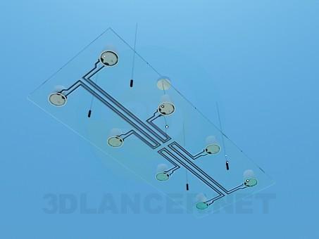 modelo 3D La lámpara en el techo - escuchar