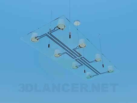 3d model The lamp on the ceiling - preview