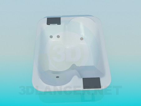 3d модель Двухместная ванна – превью