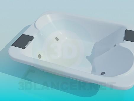 modelo 3D Baño doble - escuchar