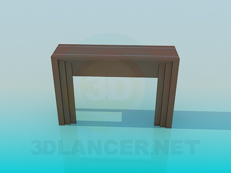 modelo 3D Estante una mesa estrecha - escuchar