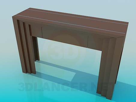 3d model Rack a narrow table - preview