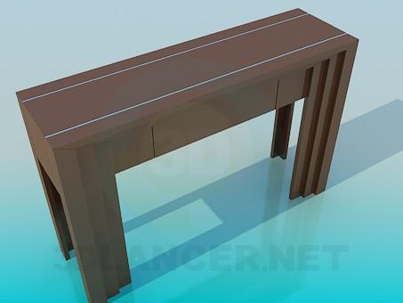 3d модель Пристінний вузький столик – превью