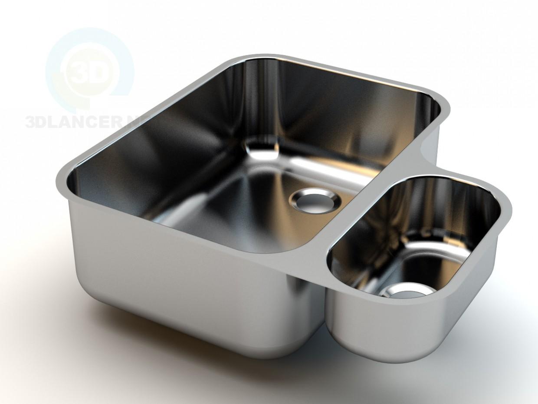 3d model Mercer Regale double bowl - preview