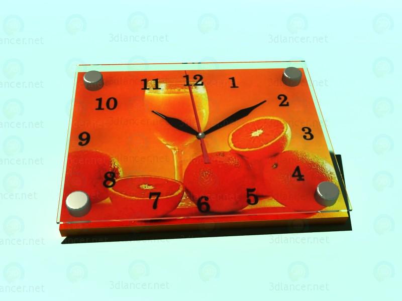 3d моделирование Часы-картина АПЕЛЬСИН модель скачать бесплатно