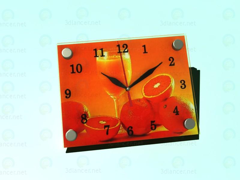 3d модель Часы-картина АПЕЛЬСИН – превью