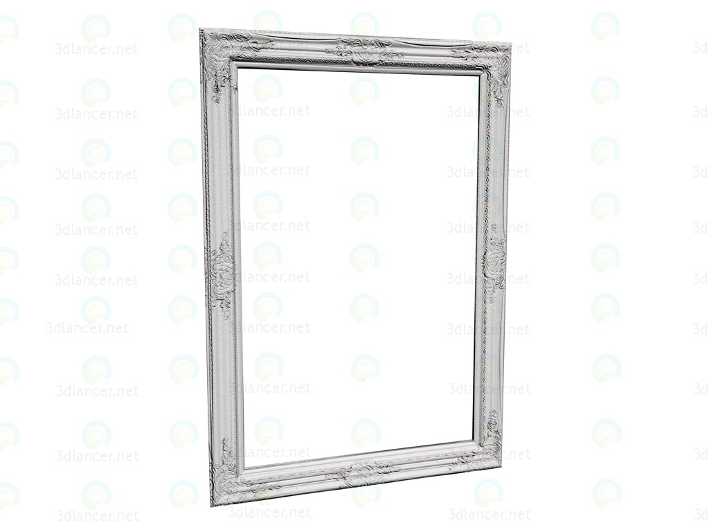 3d model Mirror Barock Shining White 104x74 - preview
