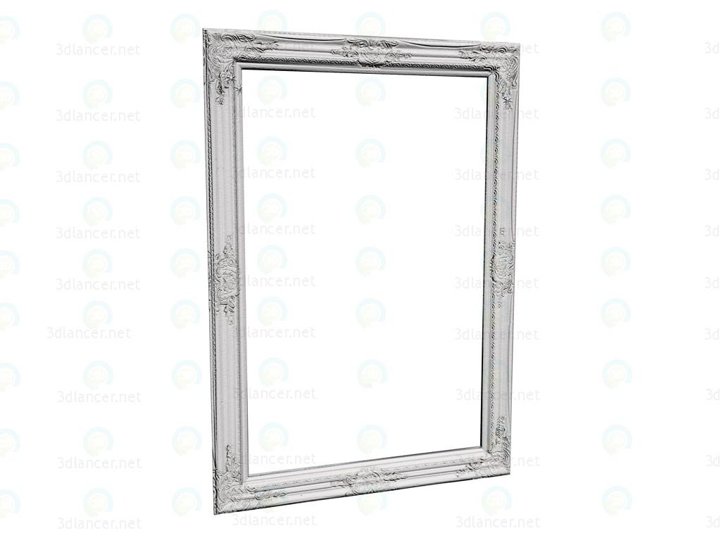 3d модель Зеркало Barock Shining White 104x74 – превью