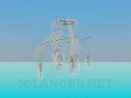 3d моделирование Припотолочная люстра модель скачать бесплатно