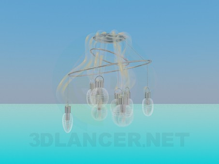 3d model Araña de luces - vista previa