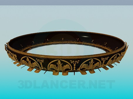 3d modeling Circular chandelier with gold ornament model free download
