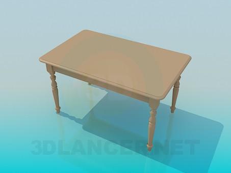 3d моделювання Кухонний столик з різьбленими ніжками модель завантажити безкоштовно