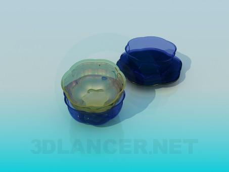 modelo 3D Ensalada utensilios de cocina - escuchar