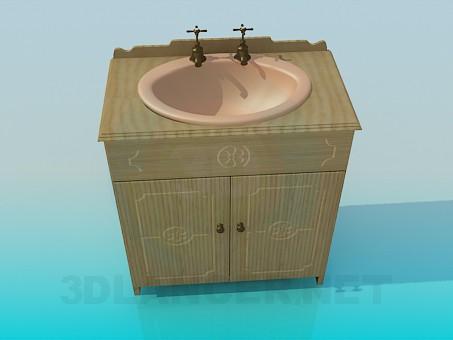 3d modeling Vintage wash basin model free download