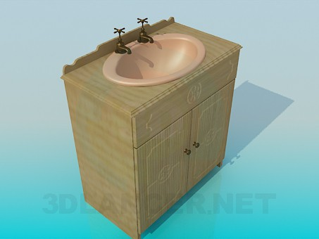 3d модель Старовинний умивальник – превью