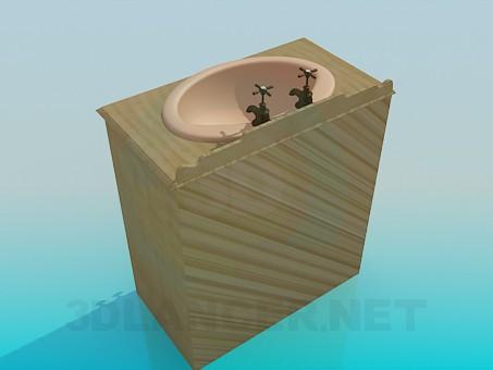 modelo 3D Lavabo vintage - escuchar