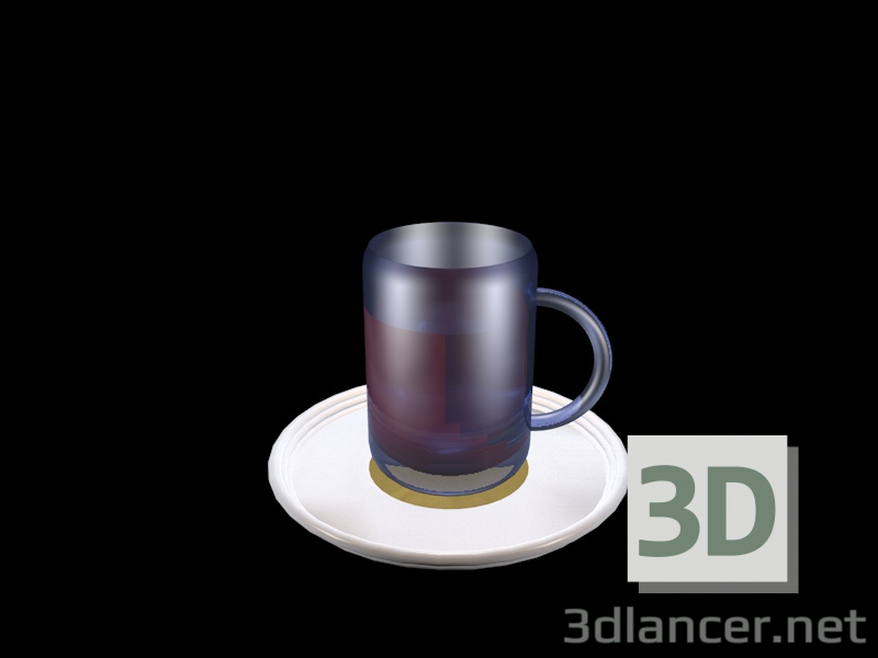 3d model A cup of tea, c4d, - Free Download | 3dlancer net