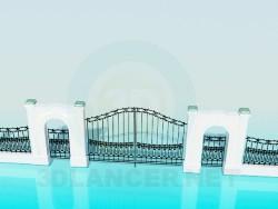 Das Tor und Zaun