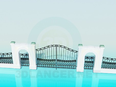 3d modeling The gate and fence model free download